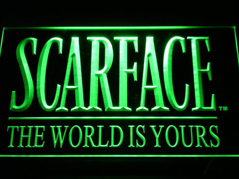 Scarface The World is Yours LED Neon Sign - Green - SafeSpecial