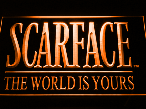 Scarface The World is Yours LED Neon Sign - Orange - SafeSpecial
