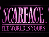 Scarface The World is Yours LED Neon Sign - Purple - SafeSpecial