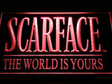 Scarface The World is Yours LED Neon Sign - Red - SafeSpecial
