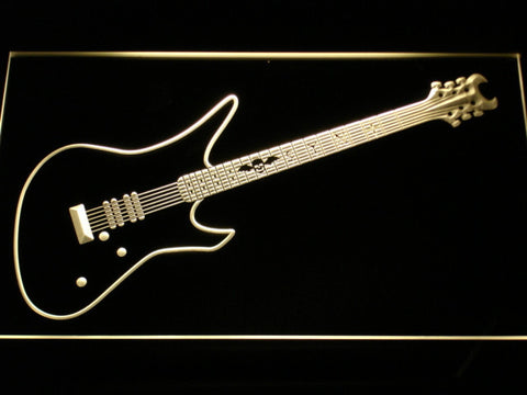 Schecter Synyster LED Neon Sign - Yellow - SafeSpecial