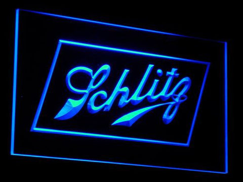 Schlitz LED Neon Sign - Blue - SafeSpecial