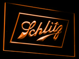 Schlitz LED Neon Sign - Orange - SafeSpecial