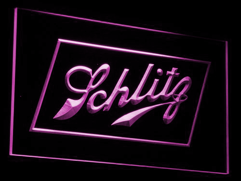 Schlitz LED Neon Sign - Purple - SafeSpecial