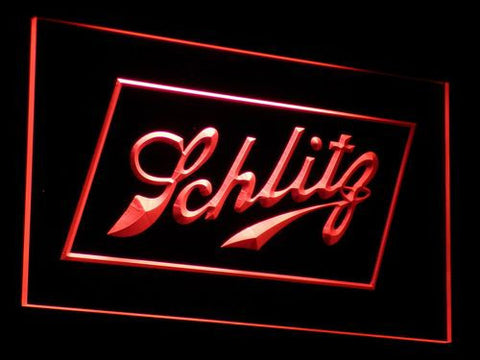 Schlitz LED Neon Sign - Red - SafeSpecial