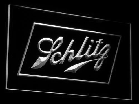 Schlitz LED Neon Sign - White - SafeSpecial