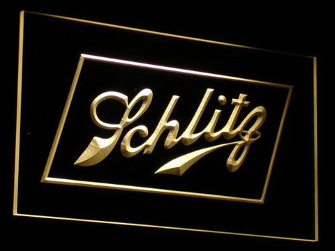 Schlitz LED Neon Sign - Yellow - SafeSpecial