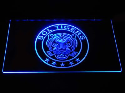 SCL Tigers LED Neon Sign - Blue - SafeSpecial