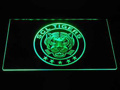 SCL Tigers LED Neon Sign - Green - SafeSpecial