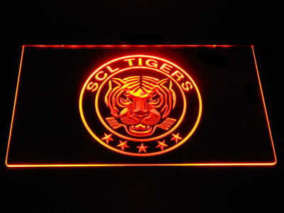 SCL Tigers LED Neon Sign - Orange - SafeSpecial