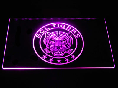SCL Tigers LED Neon Sign - Purple - SafeSpecial