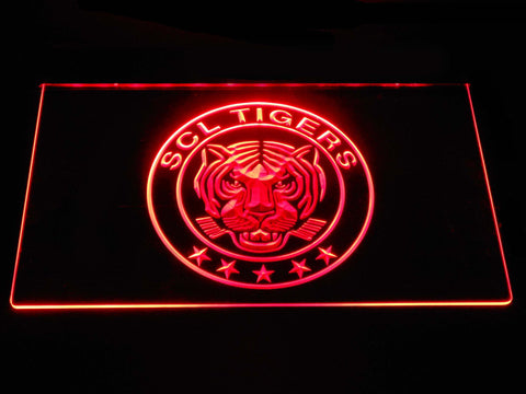 Image of SCL Tigers LED Neon Sign - Red - SafeSpecial