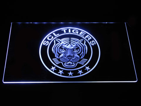 Image of SCL Tigers LED Neon Sign - White - SafeSpecial