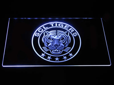 SCL Tigers LED Neon Sign - White - SafeSpecial