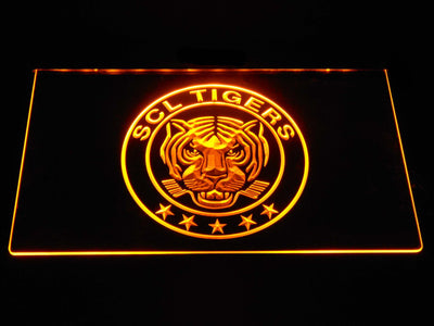 SCL Tigers LED Neon Sign - Yellow - SafeSpecial
