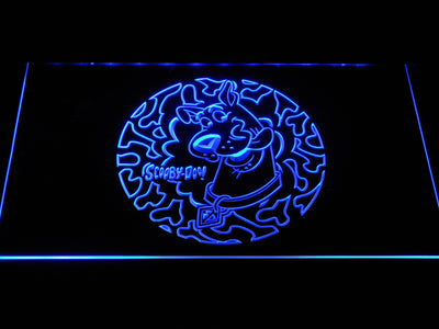 Scooby Doo Circle Pattern LED Neon Sign - Blue - SafeSpecial