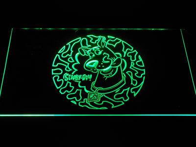 Scooby Doo Circle Pattern LED Neon Sign - Green - SafeSpecial