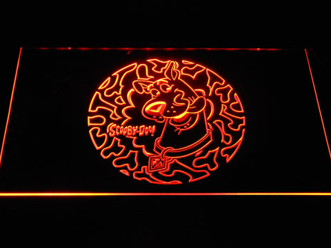 Image of Scooby Doo Circle Pattern LED Neon Sign - Orange - SafeSpecial