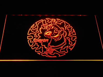 Scooby Doo Circle Pattern LED Neon Sign - Orange - SafeSpecial