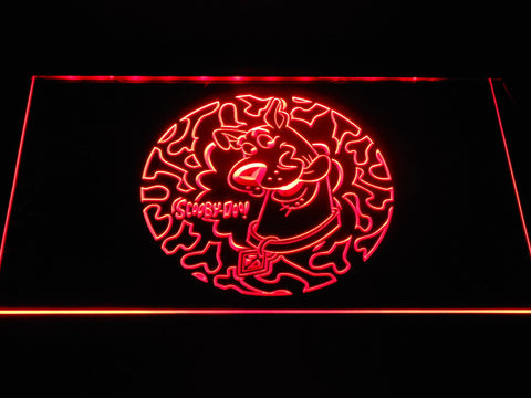 Image of Scooby Doo Circle Pattern LED Neon Sign - Red - SafeSpecial