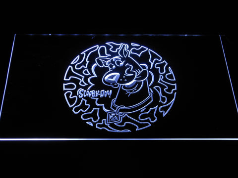 Image of Scooby Doo Circle Pattern LED Neon Sign - White - SafeSpecial