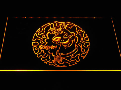 Image of Scooby Doo Circle Pattern LED Neon Sign - Yellow - SafeSpecial