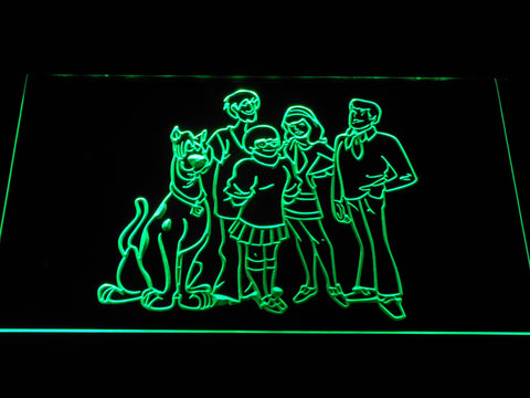 Image of Scooby-Doo Mystery Inc. LED Neon Sign - Green - SafeSpecial
