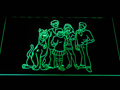 Scooby-Doo Mystery Inc. LED Neon Sign - Green - SafeSpecial