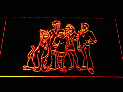 Scooby-Doo Mystery Inc. LED Neon Sign - Orange - SafeSpecial