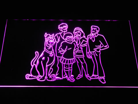 Image of Scooby-Doo Mystery Inc. LED Neon Sign - Purple - SafeSpecial