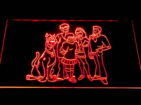 Image of Scooby-Doo Mystery Inc. LED Neon Sign - Red - SafeSpecial