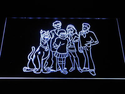 Scooby-Doo Mystery Inc. LED Neon Sign - White - SafeSpecial