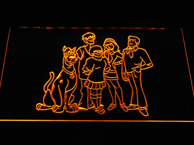 Scooby-Doo Mystery Inc. LED Neon Sign - Yellow - SafeSpecial