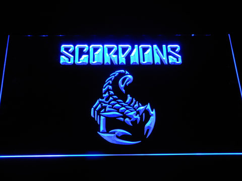 Scorpions LED Neon Sign - Blue - SafeSpecial