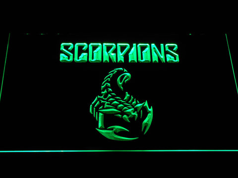 Scorpions LED Neon Sign - Green - SafeSpecial