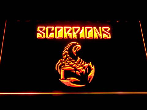 Scorpions LED Neon Sign - Orange - SafeSpecial