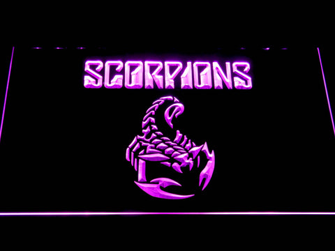 Scorpions LED Neon Sign - Purple - SafeSpecial