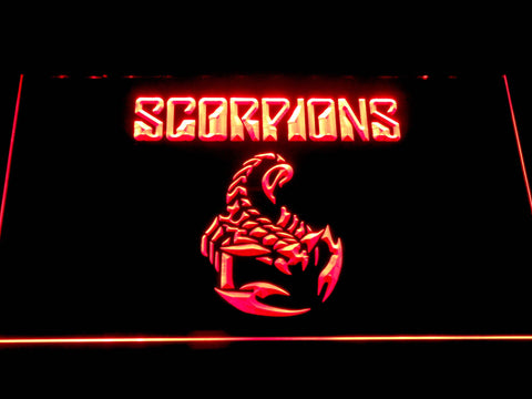 Scorpions LED Neon Sign - Red - SafeSpecial
