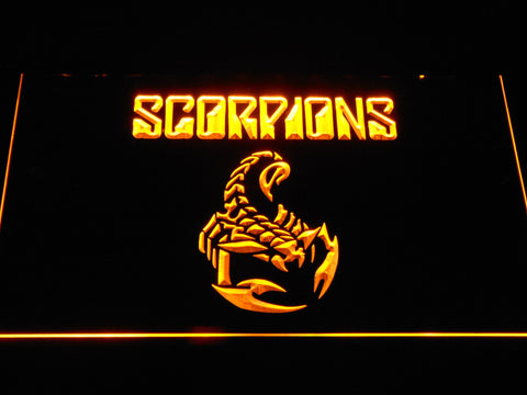 Scorpions LED Neon Sign - Yellow - SafeSpecial