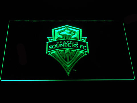 Seattle Sounders LED Neon Sign - Green - SafeSpecial