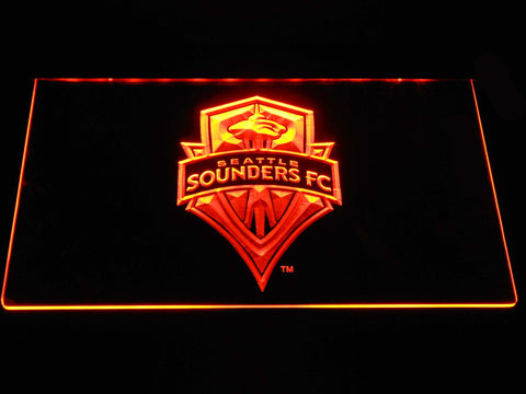 Seattle Sounders LED Neon Sign - Orange - SafeSpecial