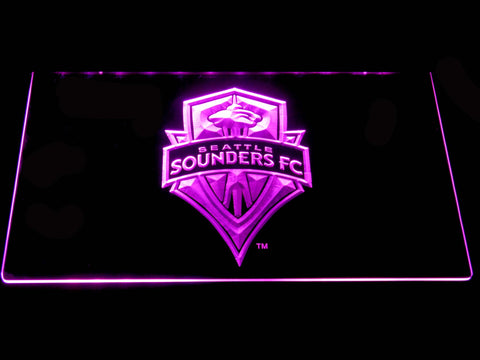 Seattle Sounders LED Neon Sign - Purple - SafeSpecial
