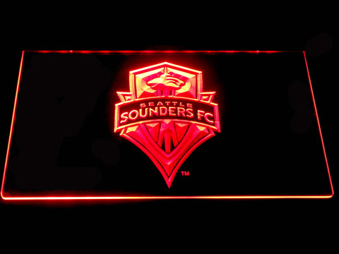 Seattle Sounders LED Neon Sign - Red - SafeSpecial