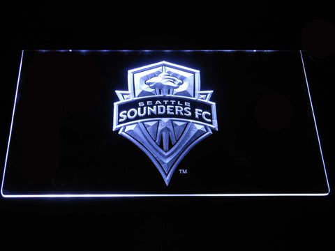 Seattle Sounders LED Neon Sign - White - SafeSpecial