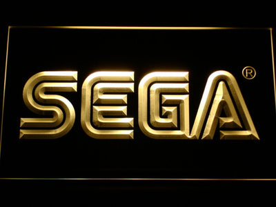 Sega LED Neon Sign - Yellow - SafeSpecial