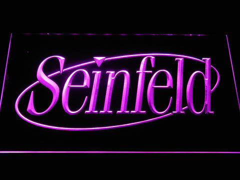 Image of Seinfeld LED Neon Sign - Purple - SafeSpecial