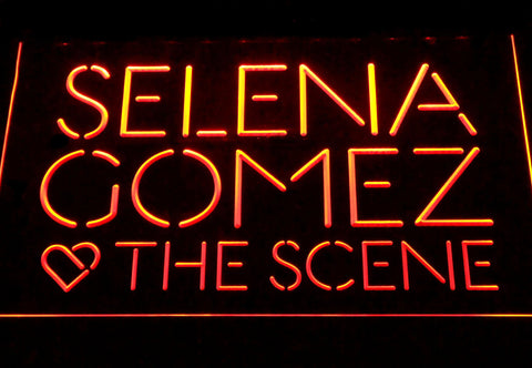 Selena Gomez & The Scene LED Neon Sign - Orange - SafeSpecial