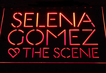 Selena Gomez & The Scene LED Neon Sign - Red - SafeSpecial