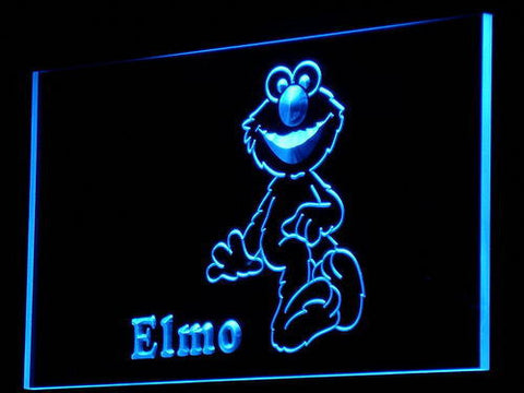 Image of Sesame Street Elmo LED Neon Sign - Blue - SafeSpecial