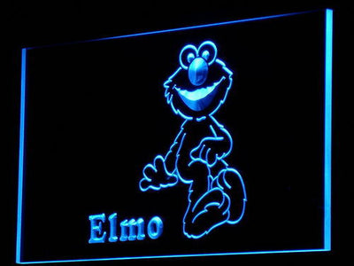 Sesame Street Elmo LED Neon Sign - Blue - SafeSpecial